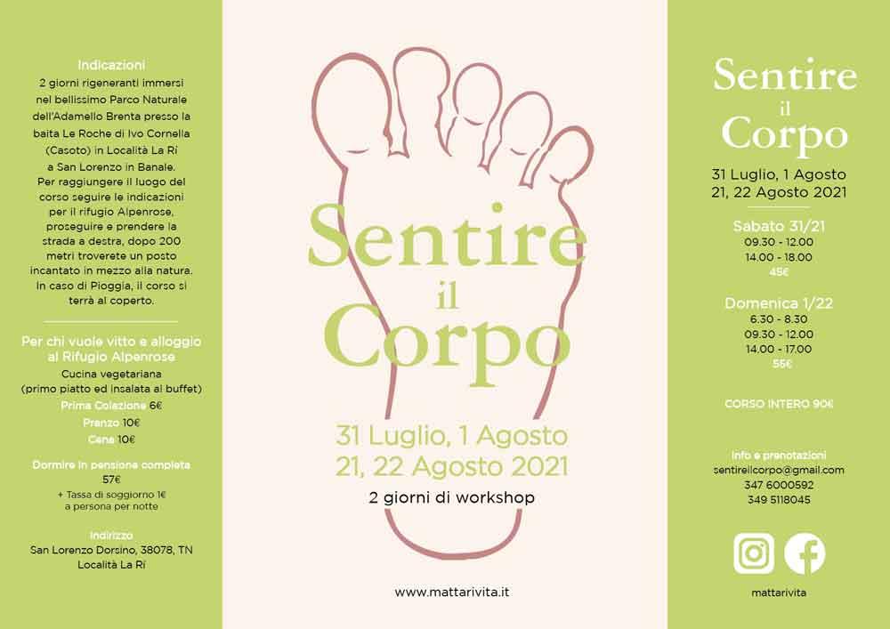 Mattari Vita Corsi di Yoga a Trento in Trentino San Lorenzo Dorsino Banale | immagine Workshop 2021